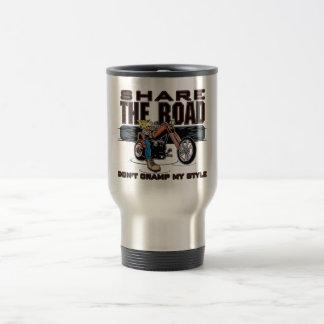 Share the Road Motorcycle Travel Mug