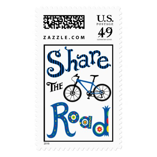 Share the Road - postage stamp