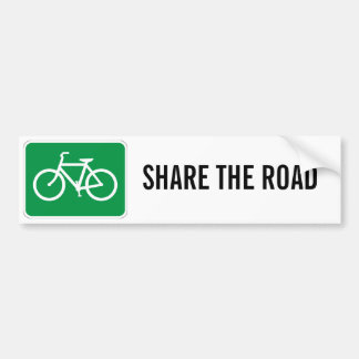 Share The Road with Bicycles Car Bumper Sticker