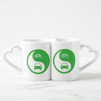 Share the Road Yin Yang Coffee Mug Set