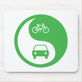 Share the Road Yin Yang Mouse Pad