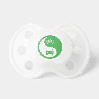 Share the Road Yin Yang Pacifier