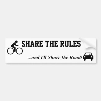Share the Rules Bumper Sticker