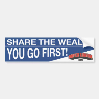 Share The Wealth Bumper Stickers