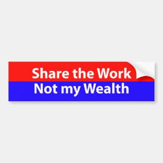 share the work car bumper sticker