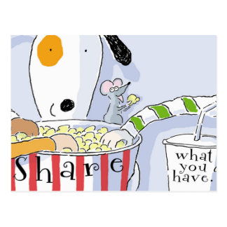 Share What You Have Postcard