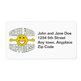 Share Your Happiness Label