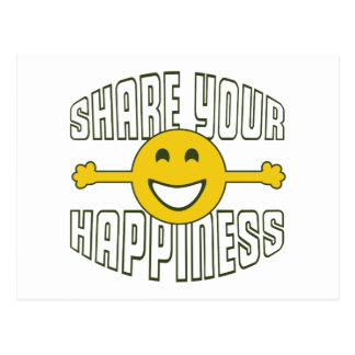 Share Your Happiness Postcard