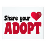 Share Your Heart Adopt Custom Announcements