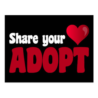 Share Your Heart Adopt Postcard