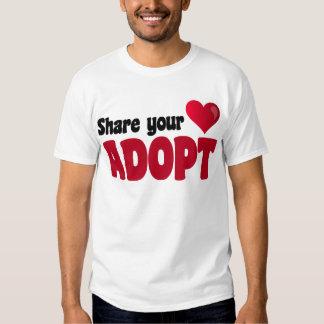 Share Your Heart Adopt T Shirt
