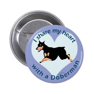 Share Your Heart - Doberman 2 Inch Round Button