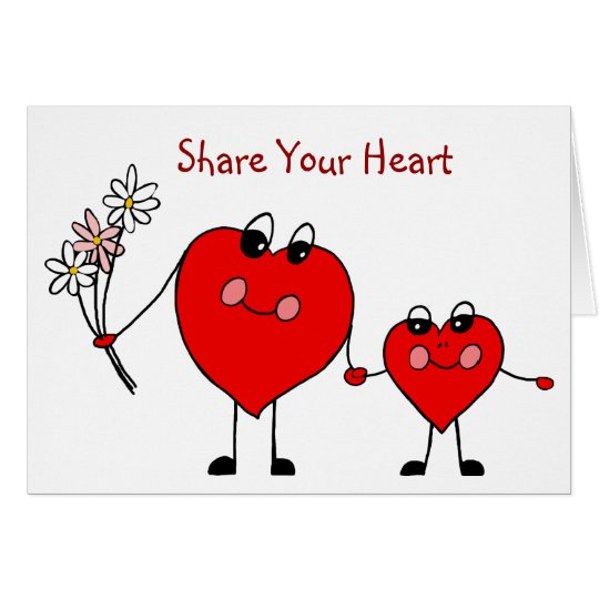 Share Your Heart Valentines Card