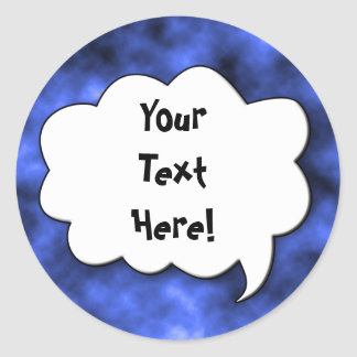 Share Your Thoughts Classic Round Sticker