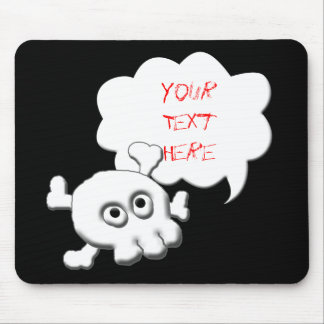 Share Your Thoughts: Skull an Crossed Bones Mouse Pad