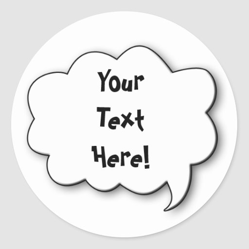 Share Your Thoughts Stickers