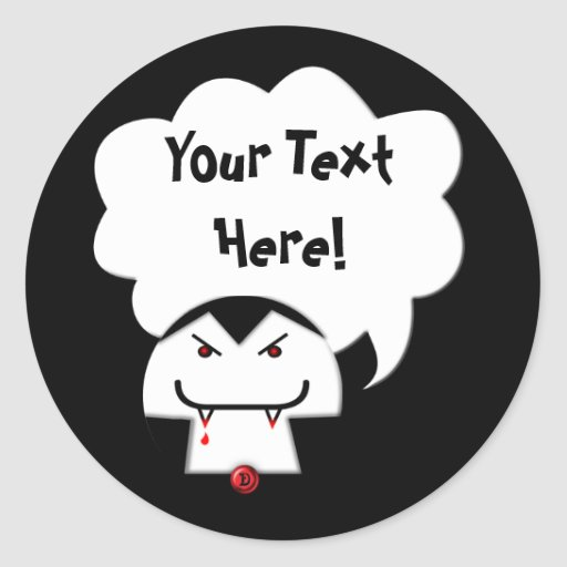 Share Your Thoughts: Vampire Round Stickers