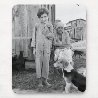 Sharecropper Family with Hound Dog, 1935 Mouse Pad