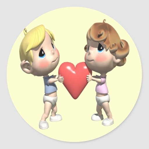 Shared Heart T-shirts and Gifts Round Stickers