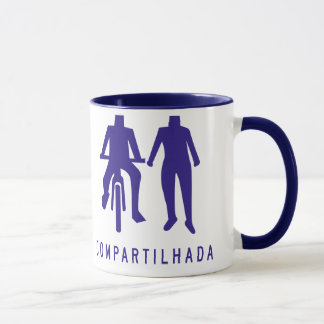 Shared Sidewalk, Brazil Traffic Sign Mug