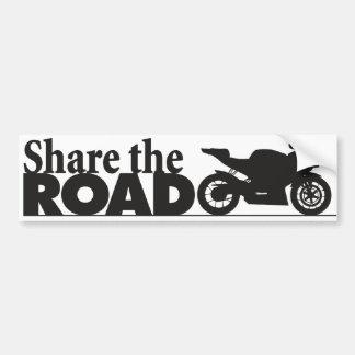 ShareTheRoad Car Bumper Sticker