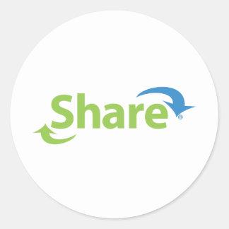 ShareWare Classic Round Sticker