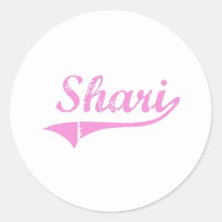 Shari Classic Style Name Round Stickers