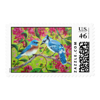 Sharing A Branch Postage Stamps