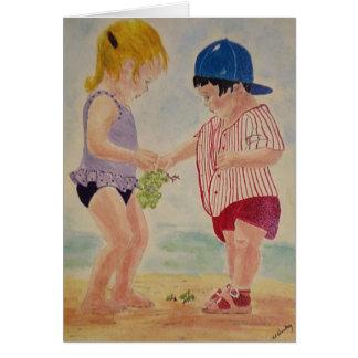 Sharing at the Beach Greeting Card