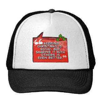Sharing Christmas Even Better Trucker Hat