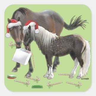 Sharing Christmas Square Sticker