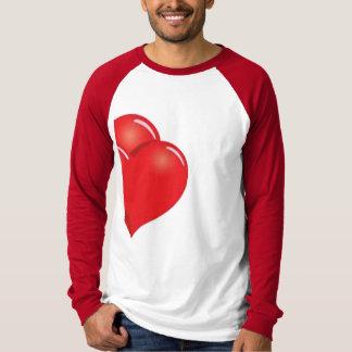 sharing half heart valentine's day tshirt design