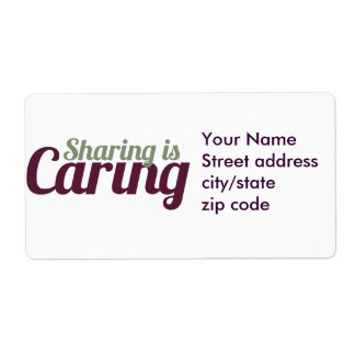 Sharing is Caring Label