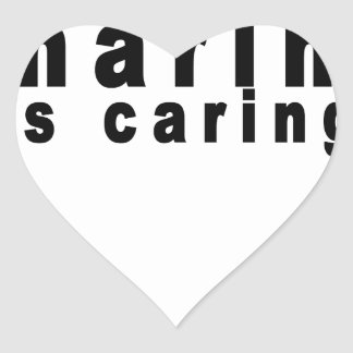 Sharing is Caring Shirts.png Heart Sticker