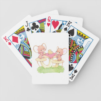 Sharing Is Caring Spring Summer Mice Bicycle Playing Cards