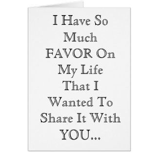 Sharing My FAVOR Card