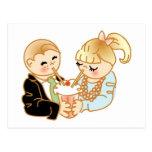 Sharing Romantic Ice Cream Postcards
