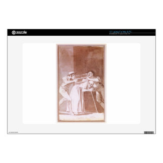 Sharing the Old Woman by Francisco Goya Decal For Laptop
