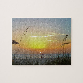 Sharing the Sunset Jigsaw Puzzle