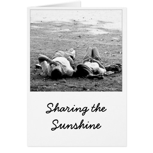 Sharing the Sunshine Greeting Card