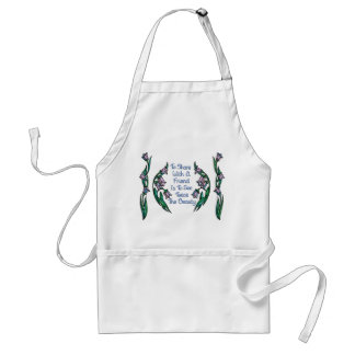 Sharing with a Friend Shows Twice the Beauty Adult Apron