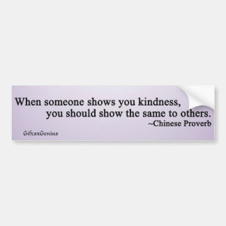 Sharing Your Blessings Car Bumper Sticker