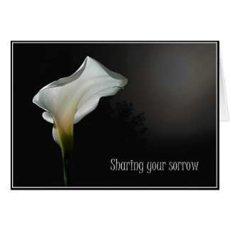 Sharing your sorrow (Arum Lily) Greeting Card