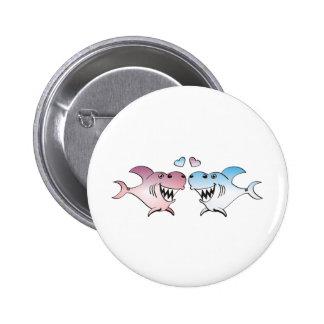 Shark 2 Inch Round Button