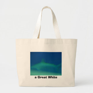 shark, a Great White Large Tote Bag
