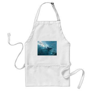 shark adult apron