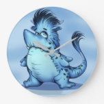 SHARK ALIEN ROUND LARGE CLOCK Monster