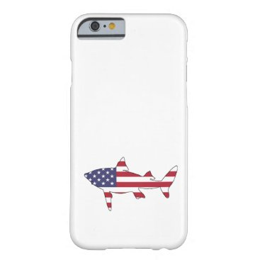 """USA Themed Shark """"American Flag"""" Barely There iPhone 6 Case"""
