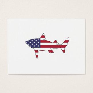 """Shark """"American Flag"""" Business Card"""