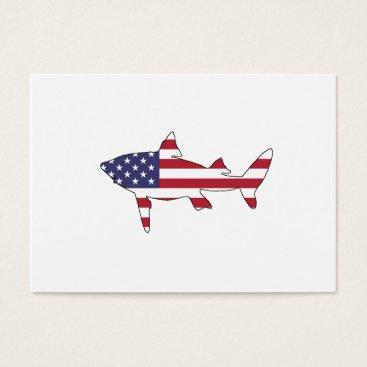 """USA Themed Shark """"American Flag"""" Business Card"""